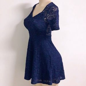 Urban Outfitters Pins & Needles Blue Lace Dress